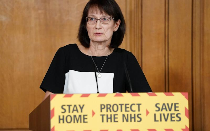 Dr Jenny Harries during an earlier press conference on the coronavirus pandemic - PA