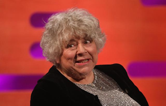 Miriam Margolyes during the filming for the Graham Norton Show at BBC Studioworks 6 Television Centre, Wood Lane, London, to be aired on BBC One on Friday evening. (Photo by Isabel Infantes/PA Images via Getty Images)