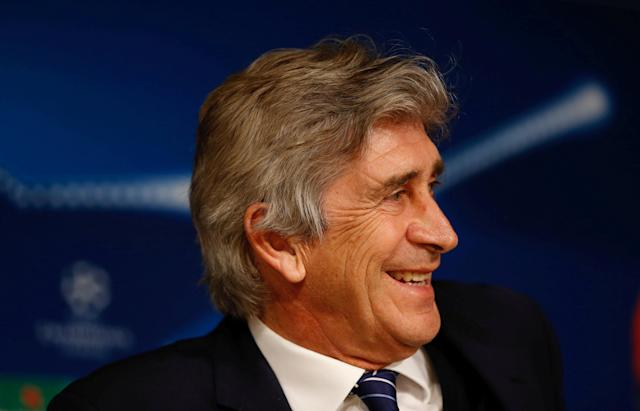 FILE PHOTO: Football Soccer - Manchester City News Conference - Bernabeu stadium, Madrid, Spain - 3/5/16 Manchester City's coach Manuel Pellegrini during the news conference. REUTERS/Paul Hanna Picture Supplied by Action Images/File Photo
