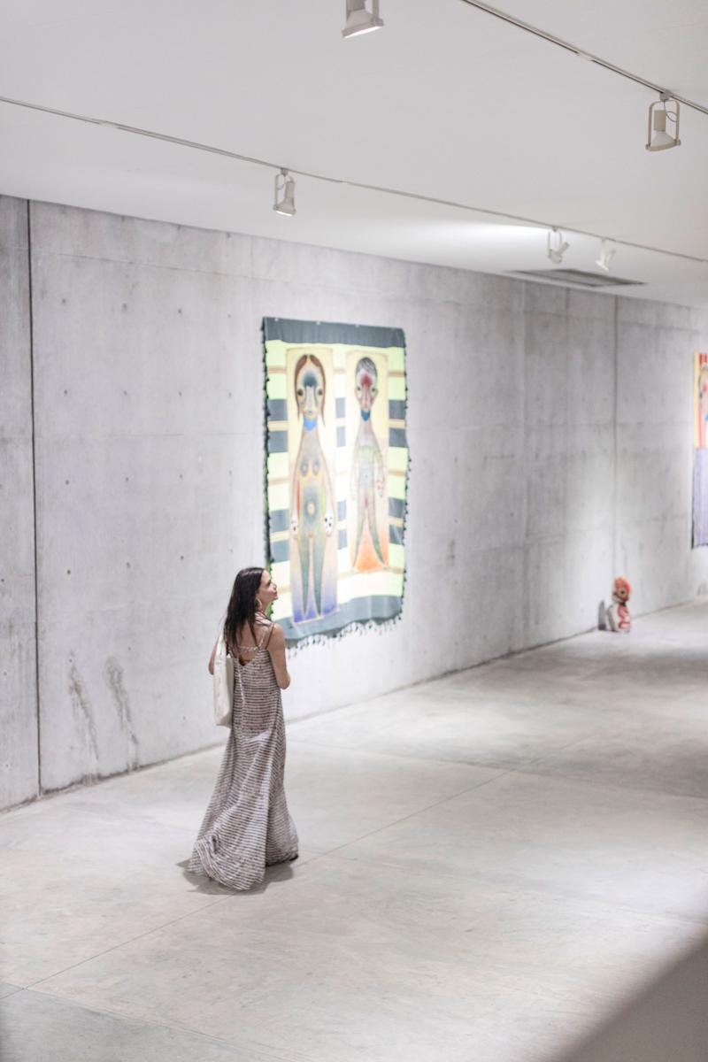 Guiding our guests through the main gallery space, where artists are chosen to showcase their work.