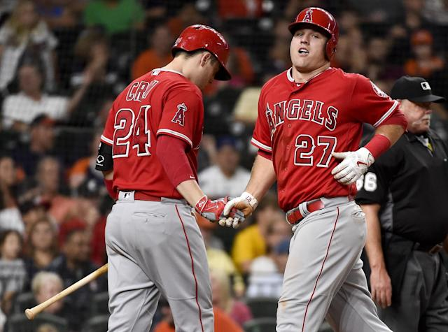 Mike Trout is just about good at everything in life it seems like. (AP Images)