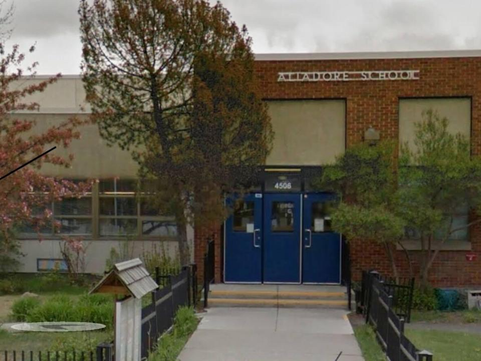 Altadore School in southwest Calgary. The former principal admitted to forging invoices in a scheme that diverted $200,000 to his personal bank account. (Google Maps - image credit)