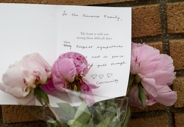 Messages and flowers are placed at a makeshift memorial in Santa Monica College campus Sunday, June 9, 2013 in Santa Monica, Calif. A shooting on Friday rampage in Santa Monica that left six people dead, including the suspected gunman. (AP Photo/Ringo H.W. Chiu) (AP Photo/Ringo H.W. Chiu)
