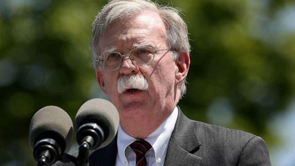 PHOTO: In this file photo, National Security Advisor John Bolton speaks during a graduation ceremony at the U.S. Coast Guard Academy in New London, Conn., on May 22, 2019. (Michelle Mcloughlin/Reuters, FILE)