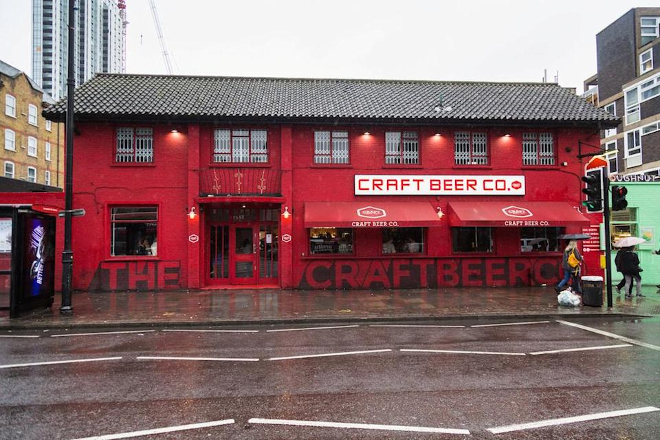 The Craft Beer Co's pub in Old Street, east London, which sells the expensive pint (Picture: SWNS)