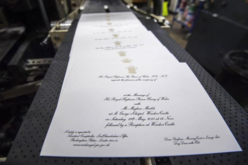 Invitations for the day were sent out last week. Photo: Getty Images