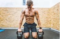 """<p><strong>You'll need: Floor space</strong></p><p>The entire programme is based on variations of the standard press-up. It's that simple. Note: for those of you new to the press-up, <a href=""""https://www.menshealth.com/uk/fitness/a754908/ultimate-guide-to-the-press-up-edit/"""" rel=""""nofollow noopener"""" target=""""_blank"""" data-ylk=""""slk:check out our complete guide to the press-up and its variations."""" class=""""link rapid-noclick-resp"""">check out our complete guide to the press-up and its variations.</a> For others who are ready, this is your blueprint to building a bigger chest at home using nothing more than your own bodyweight.</p><p><a class=""""link rapid-noclick-resp"""" href=""""https://www.menshealth.com/uk/building-muscle/g751116/crank-up-your-chest-without-lifting-weights-348714/"""" rel=""""nofollow noopener"""" target=""""_blank"""" data-ylk=""""slk:GET THE TRAINING PLAN HERE"""">GET THE TRAINING PLAN HERE</a></p>"""