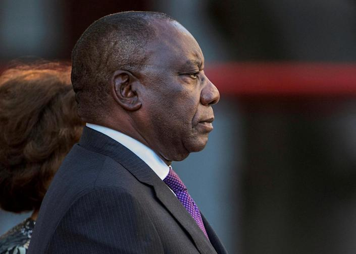President Cyril Ramaphosa arrives to deliver his State of the Nation address at Parliament in Cape Town, South Africa, February 16, 2018. REUTERS/Gianluigi Guercia//File Photo