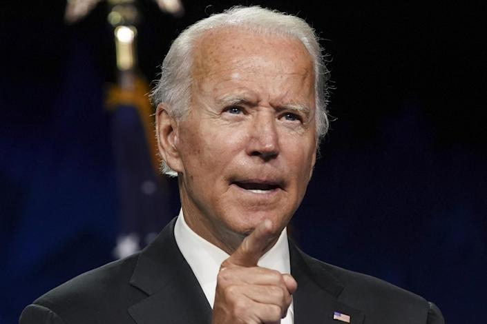 Former Vice President Joe Biden at the Democratic National Convention in Wilmington, Del., on Aug. 20. (Stefani Reynolds/Bloomberg via Getty Images)