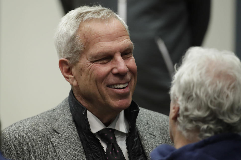 New York Giants owner Steve Tisch won't punish his players for anthem-relayed protests. (AP Photo)