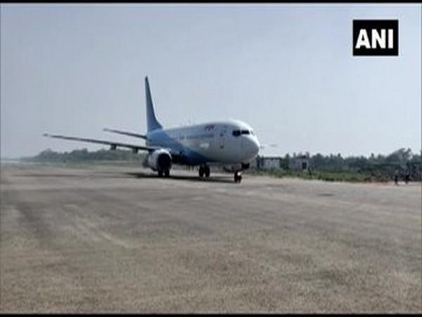 Flight operations here at the Darbhanga airport commenced on Sunday.