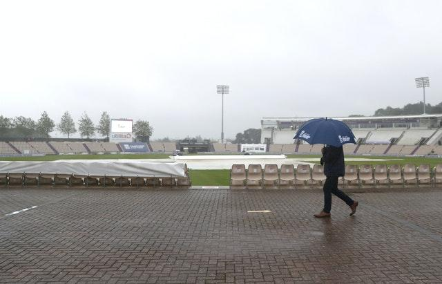 Rain frustrated England's attempts to push for victory