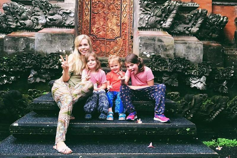 The family, from Croydon, have started a new life on the paradise island of Bali