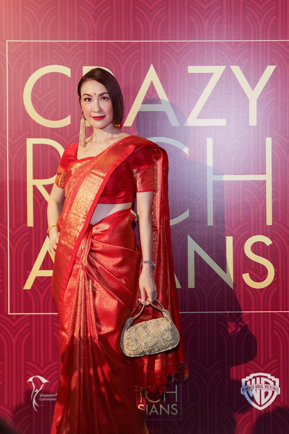 <p>Singaporean actress Amy Cheng poses for photographers at the Singapore premiere of 'Crazy Rich Asians' on 21 August 2018. (PHOTO: Yahoo Lifestyle Singapore) </p>