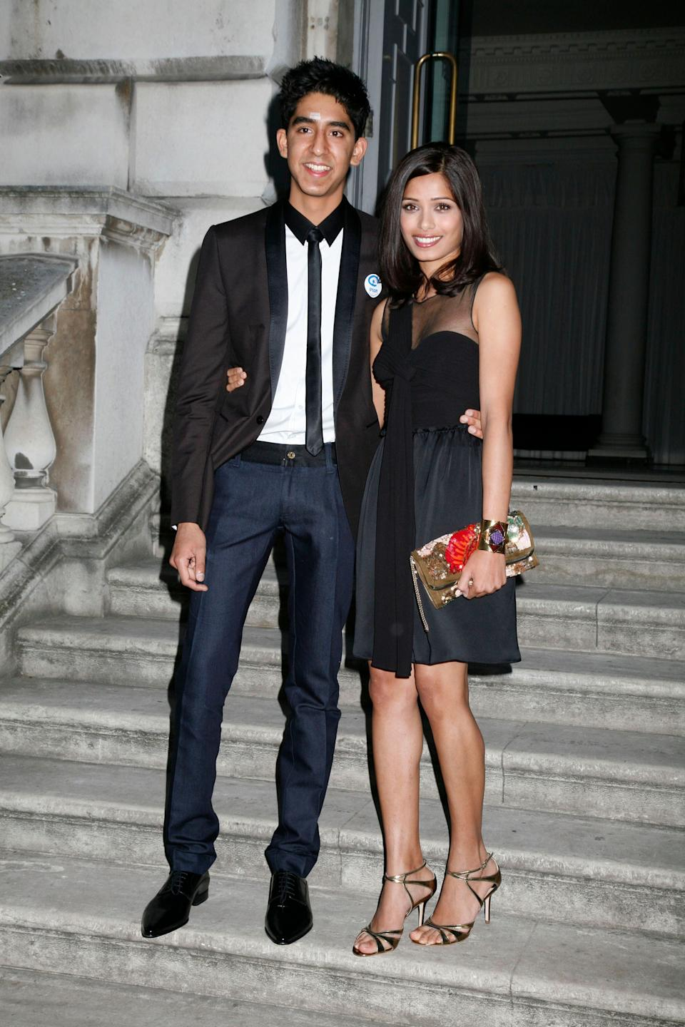 "Patel and Pinto at a screening of ""Slumdog Millionaire"" at Somerset House in London on Aug. 2, 2009."