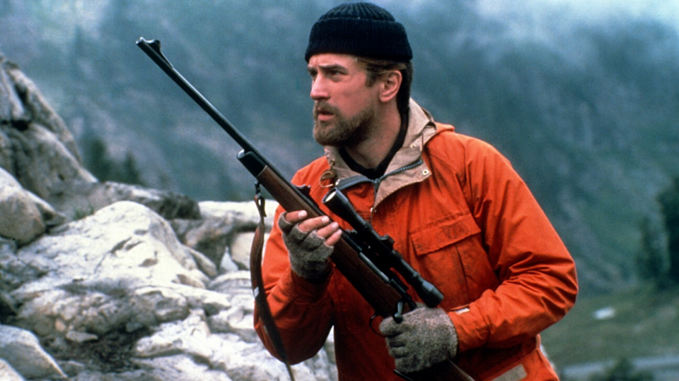<p> The Russian roulette scene is perhaps what Michael Cimino's Vietnam drama is best known for – a moment that epitomises the utter hopelessness of a man torn apart emotionally by his tour of Vietnam. He's one of three childhood friends, who sign up to serve their country. By focusing as much on the buddies' home lives as well as their combat experiences, Cimino paints a tragic portrait of a blue-collar Pennsylvania community destroyed by war. It's a striking piece of cinema that cuts between their initial excitement and the harsh reality, brought to life by an epic cast that includes Christopher Walken, Robert De Niro, Nick Savage, and Meryl Streep. </p>