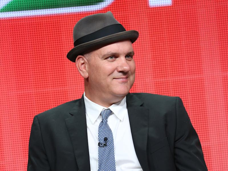 "This publicity image released by NBC shows actor Mike O'Malley from the ""Welcome to the Family"" panel during the NBCUniversal Press Tour in Beverly Hills, Calif., on Saturday, July 27, 2013. ""Welcome to the Family,"" set to premiere in October, follows the culture clash between a white and Latino family who are thrown together after their teenage children get engaged after an unexpected pregnancy. (AP Photo/NBC, Chris Haston)"