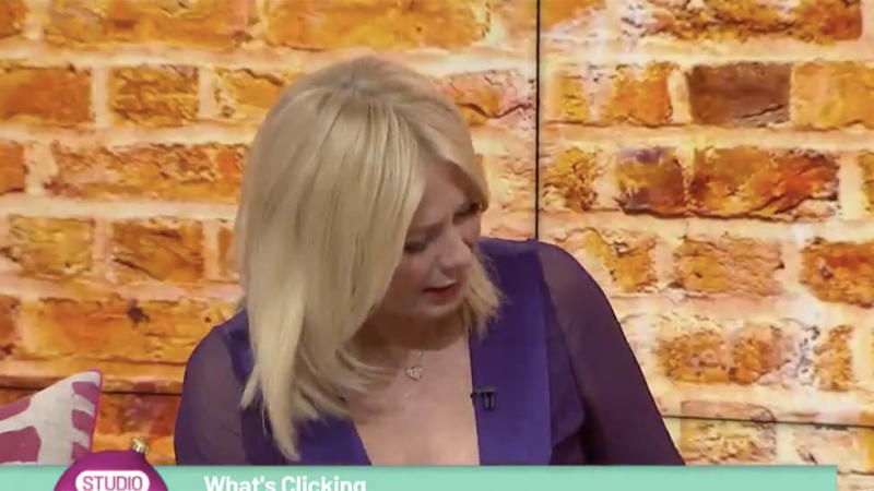 Kerri-Anne Kennerley looks at guests's dress on Studio 10