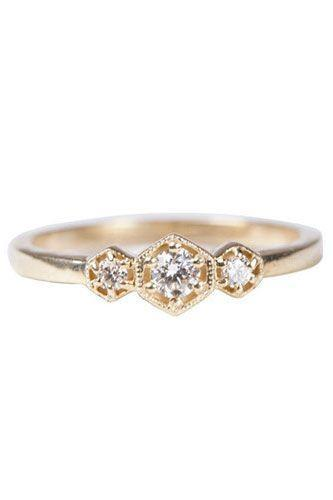 """<p><strong>Katie Diamond</strong> Valentina Ring, $1,012, available at <a href=""""http://katiediamondjewelry.com/collections/wedding/products/valentina-ring"""" rel=""""nofollow noopener"""" target=""""_blank"""" data-ylk=""""slk:Katie Diamond"""" class=""""link rapid-noclick-resp"""">Katie Diamond</a>.</p>"""