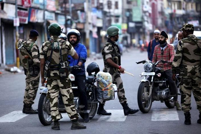 Prime Minister Narendra Modi's government imposed a communications blackout in early August, after it stripped the portion of Kashmir it controls of its partial autonomy (AFP Photo/Rakesh BAKSHI)