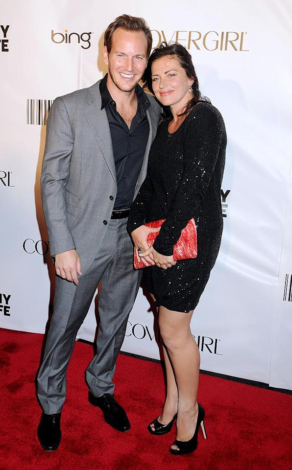 """""""The Switch's"""" Patrick Wilson got cozy on the red carpet with his date for the night. Janet Mayer/<a href=""""http://www.splashnewsonline.com"""" target=""""new"""">Splash News</a> - September 30, 2010"""