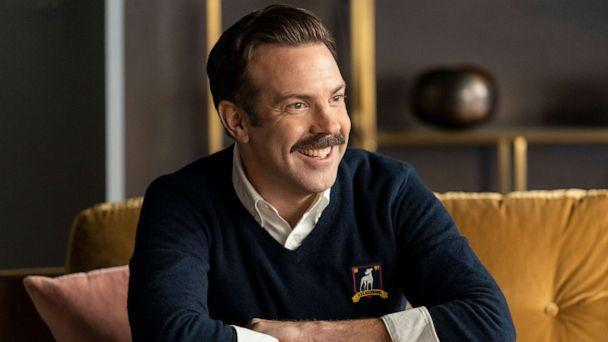 """PHOTO: Jason Sudeikis in a scene from """"Ted Lasso."""" (Apple TV+)"""