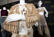 A selection of clothing belonging to music recording artist Janet Jackson are on display during an auction preview at Julien's Auctions in Beverly Hills