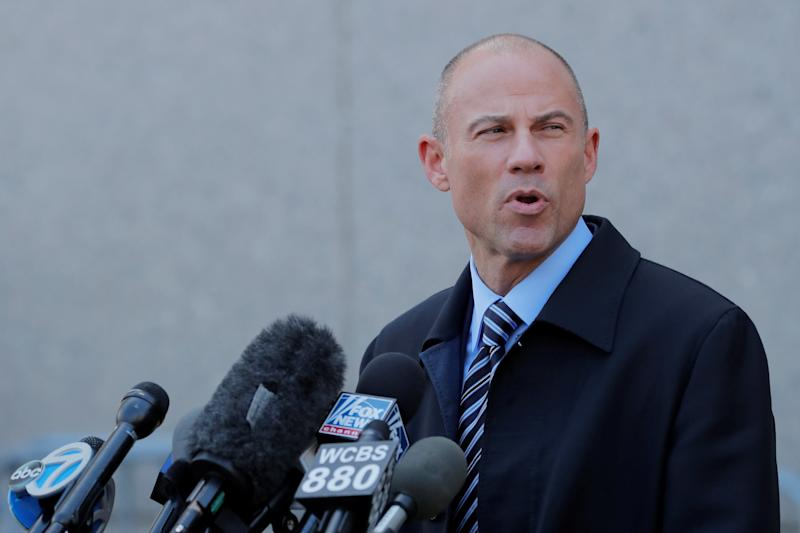 "Stormy Daniels' attorney Michael Avenatti said, ""I'm exploring a run for the presidency of the United States, and I wanted to come to Iowa and listen to people and learn about some issues that are facing the citizens of Iowa and do my homework.""  (Lucas Jackson / Reuters)"
