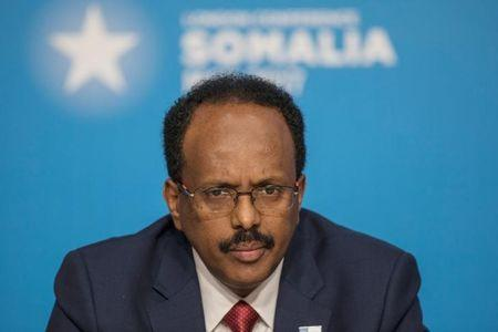 Mohamed Abdullahi Mohamed, President of Somalia, attends the London Somalia Conference' at Lancaster House