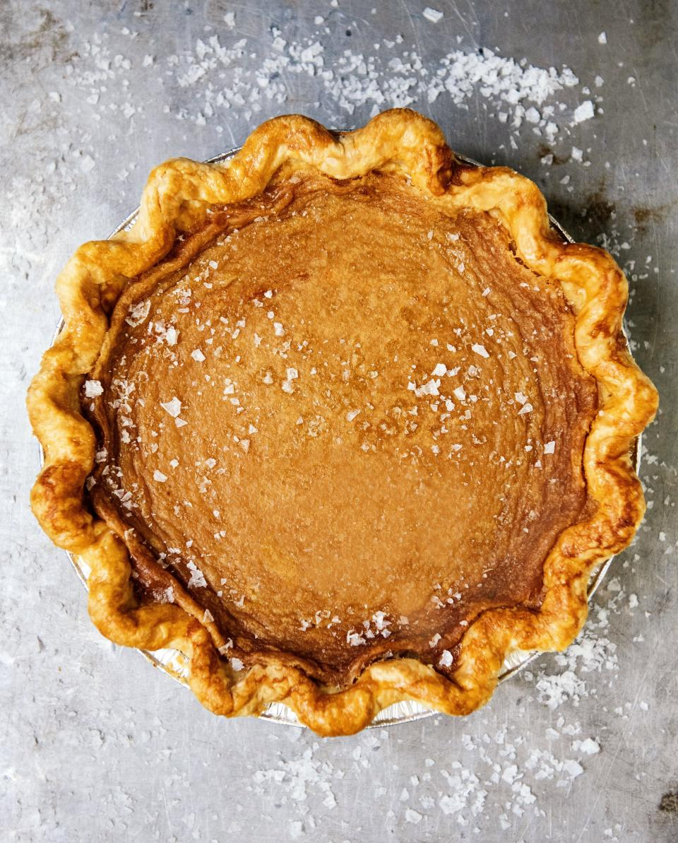"<a href=""http://sisterpie.com"" rel=""nofollow noopener"" target=""_blank"" data-ylk=""slk:Sister Pie"" class=""link rapid-noclick-resp""><strong>Sister Pie</strong></a> <strong>8066 Kercheval Ave, Detroit</strong> The signature<strong> Salted Maple</strong> pie is simplicity at its finest, made with pure maple syrup and topped with flaky sea salt in a crispy crust made with French butter."