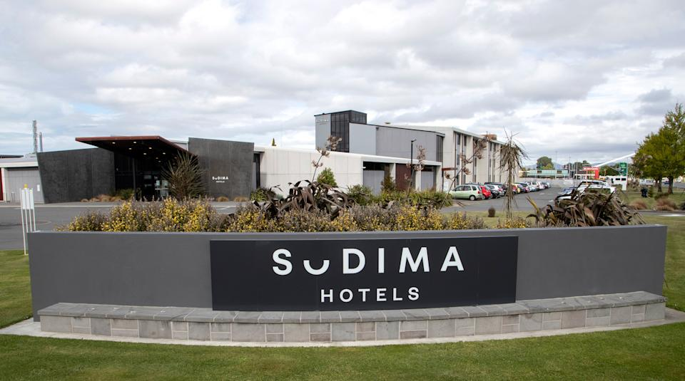 The Sudima Hotel, located very near the airport in Christchurch, is seen on TuesdayAP