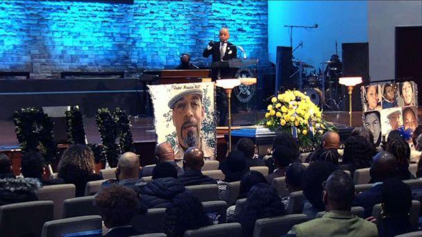 PHOTO: Rev. Al Sharpton speaks at the memorial service for Andre Hill in Columbus, Ohio, Jan. 5, 2020.  (First Church of God/WSYX)