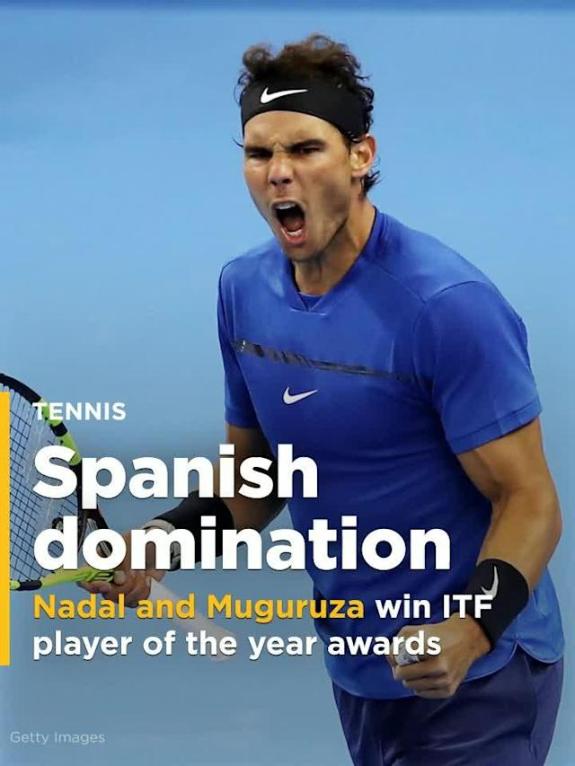 Nadal and Muguruza win ITF player of the year awards