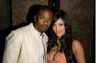 "<p>In 2007, XXX footage of a yet-to-be-A-list Kim Kardashian fornicating with Ray J landed in the hands of the porn company Vivid Entertainment, which distributed it to millions as <em>Kim Kardashian, Superstar</em>. Kim originally sued to try to stop the tape's release, but then settled with a deal that <a href=""http://pagesix.com/2017/03/27/the-kim-kardashian-sex-tape-an-oral-history/"" rel=""nofollow noopener"" target=""_blank"" data-ylk=""slk:reportedly enabled"" class=""link rapid-noclick-resp"">reportedly enabled</a> her to cash in to the tune of $5 million. The rest is history.</p>"
