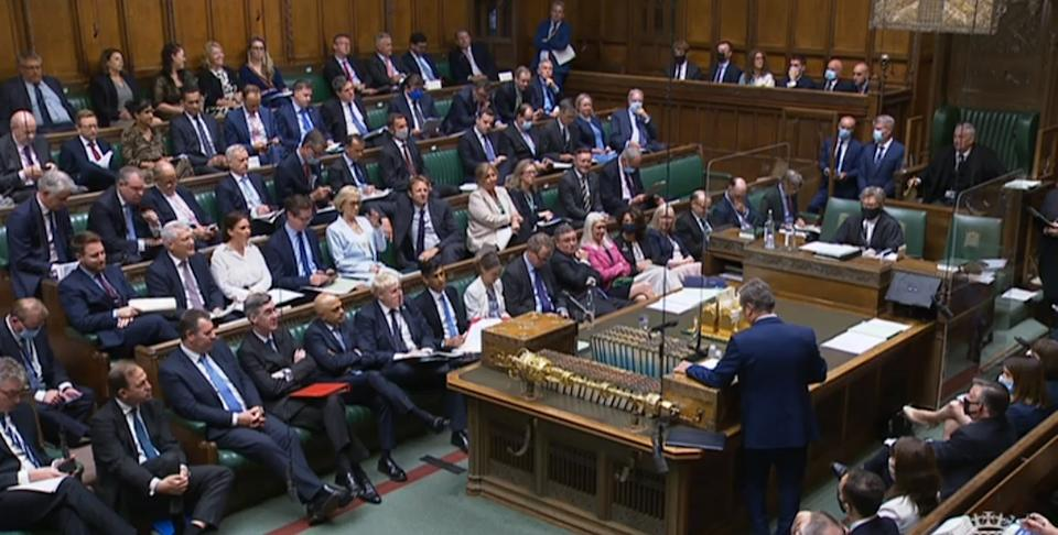 MPs in the House of Commons debating the increase in National Insurance on 7 September. (PA)