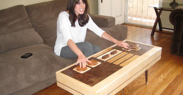 Play Retro Nintendo Games With This  Wooden Table That Doubles As A Controller
