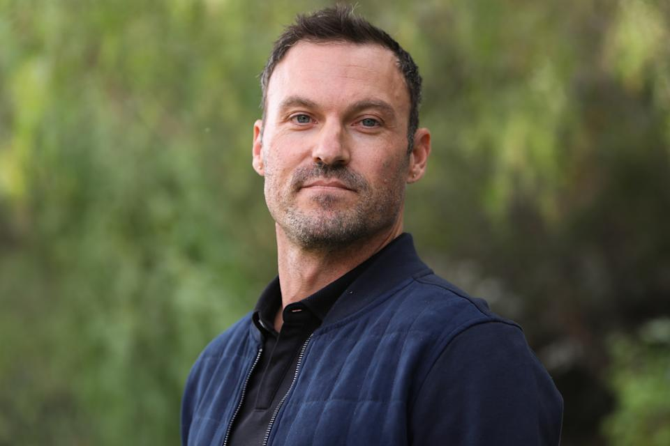 """UNIVERSAL CITY, CALIFORNIA - NOVEMBER 15: Actor Brian Austin Green visits Hallmark Channel's """"Home & Family"""" at Universal Studios Hollywood on November 15, 2019 in Universal City, California. (Photo by Paul Archuleta/Getty Images)"""