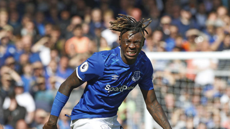 Everton's Moise Kean is in hot water with the club over a party he reportedly hosted. (AP Photo/Rui Vieira)