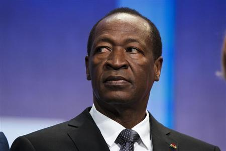 President of Burkina Faso, Blaise Compaore at the Clinton Global Initiative in New York