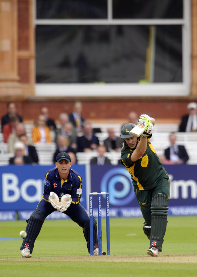 Nottinghamshire's David Hussey during the Yorkshire Bank Pro40 Final at Lord's Cricket Ground, London.