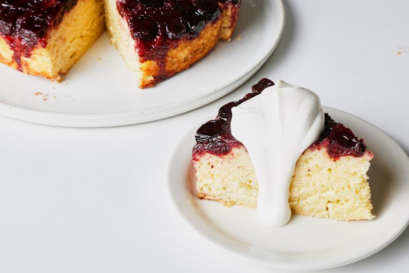 No, you cannot replace the sour cream in this cake with water.