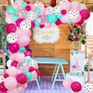 <p>Get playful and flirty with this vibrant <span>125-Piece Pink, Blue, and Polka Dot Balloons Garland Arch Kit</span> ($14).</p>