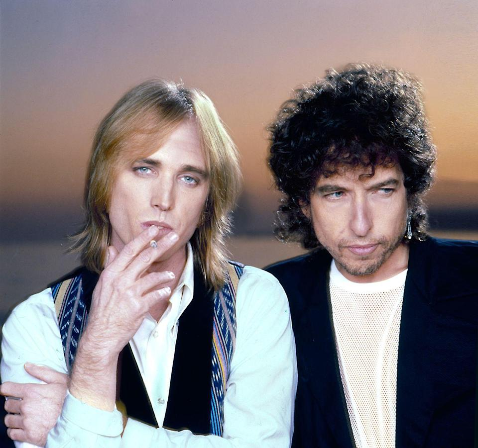 <p>Tom Petty and Bob Dylan in 1986.</p>