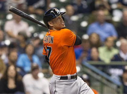 Giancarlo Stanton, 25, is about to sign the biggest contract in sports history. (AP)
