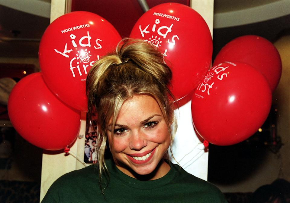 "Teenage pop singer Billie Piper at Planet Hollywood in London, to celebrate the first birthday of Woolworths ""Kids First"".   (Photo by Tony Harris - PA Images/PA Images via Getty Images)"