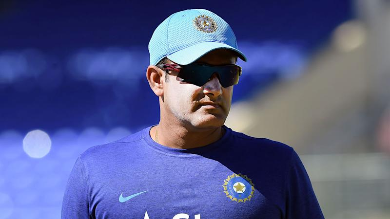 Pictured here, legendary Indian spinner Anil Kumble.