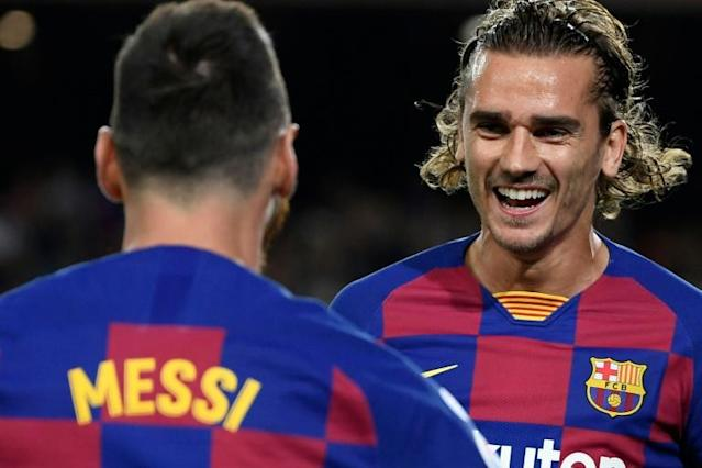 Antoine Griezmann (right) joined Barcelona from Atletico Madrid in July 2019 (AFP Photo/LLUIS GENE)