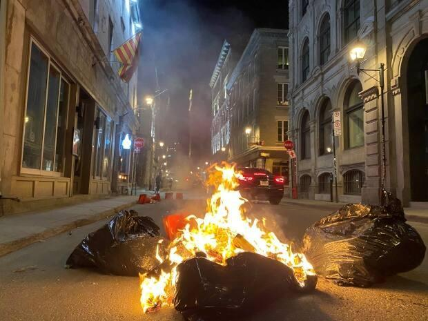 The riot, which left dozens of businesses in Old Montreal damaged, began at the end of a peaceful demonstration against an earlier curfew.