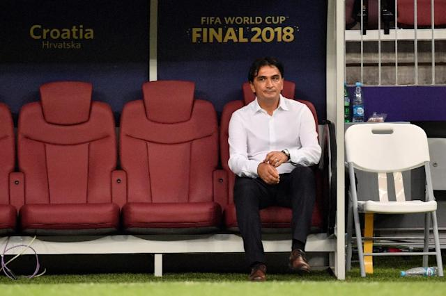 One game too far: Croatia coach Zlatko Dalic lamented his side's lack of luck in the World Cup final (AFP Photo/CHRISTOPHE SIMON)