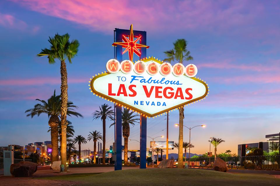 Those headed to Sin City should brace themselves for crowds this weekend as Las Vegas comes in at No. 1 for both AAA and Hopper's forecasts for top destinations based on online search traffic, and hotel and car rental bookings. (Photo: Getty)